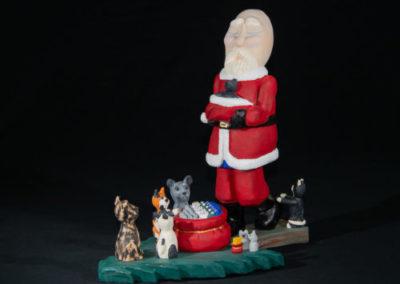 Santa visiting the Homeless