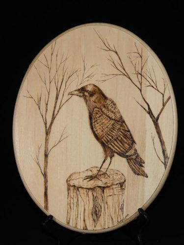 Raven on Stump
